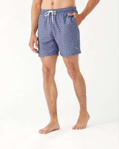 Big & Tall Naples Palms Away Geo Swim Trunks