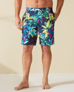Big & Tall Baja Fuego Palms Board Shorts