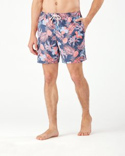 Big & Tall Naples Midnight Coral Swim Trunks