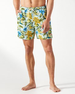 Big & Tall Naples Tikis In The Tropics Swim Trunks