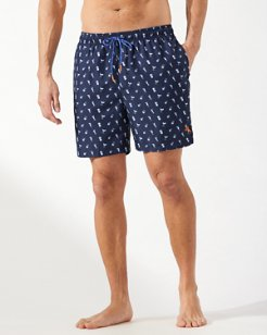 Big & Tall Naples Tipsy Toss 6-Inch Swim Trunks