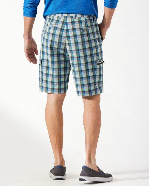 Big & Tall Cayman Lanai Plaid 10-Inch Cargo Shorts