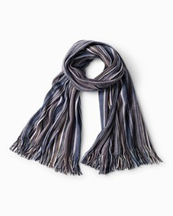 Multi-Color Fringed Wool Scarf