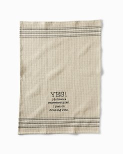 Retirement Plan Bar Towel