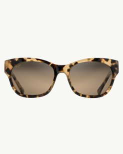 Monstera Leaf 24k-Gold Trim Sunglasses by Maui Jim®