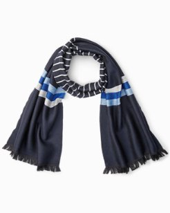 Striped & Solid Wool Scarf