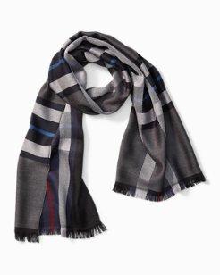 Reversible Plaid Wool Scarf