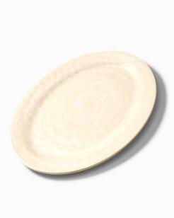 Cream Swirl Melamine Oval Platter