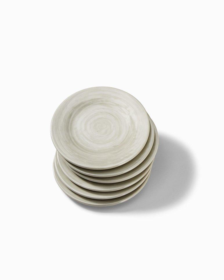 Main Image for Gray Swirl Melamine Appetizer Plates - Set of 6