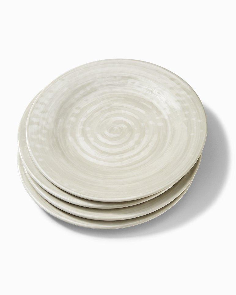 Main Image for Gray Swirl Melamine Dinner Plates - Set of 4