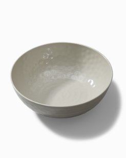 Gray Swirl Melamine Serving Bowl