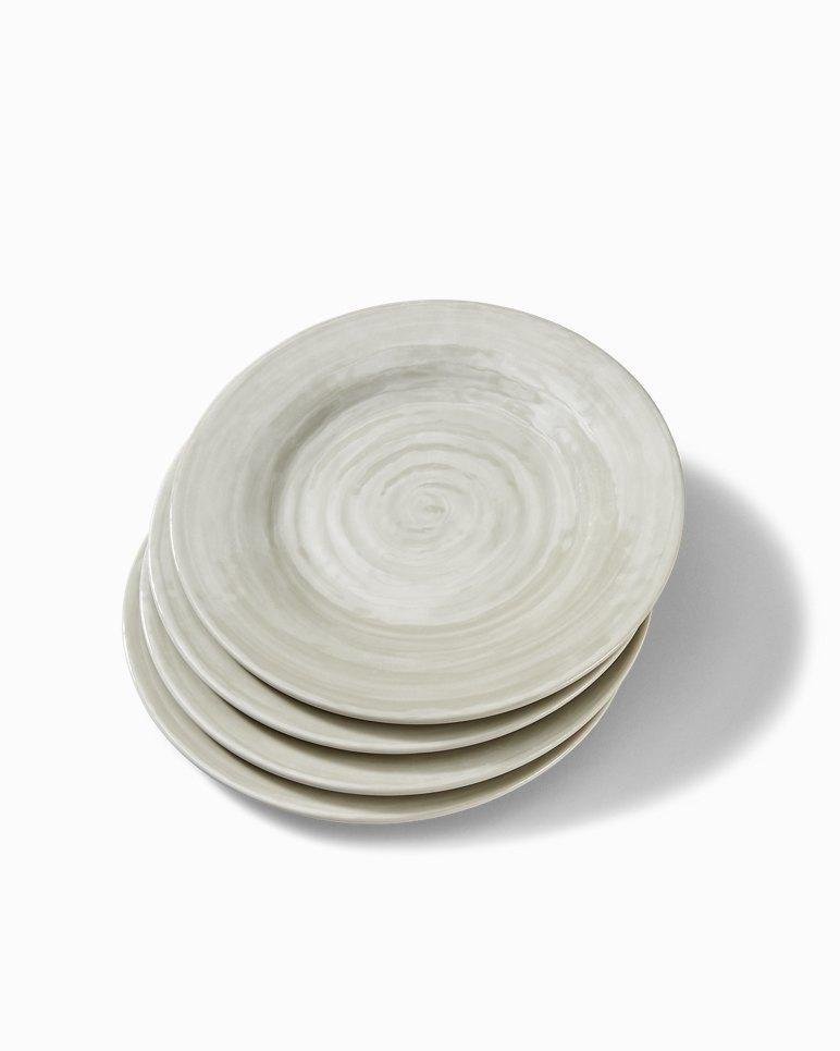 Main Image for Gray Swirl Melamine Salad Plates - Set of 4