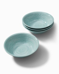 Blue Swirl Melamine Small Bowls - Set of 4