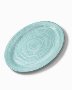 Blue Swirl Melamine Oval Platter