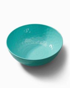 Turquoise Swirl Melamine Serving Bowl