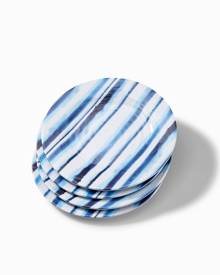 Main Image for Ink Stripe Melamine Salad Plates - Set of 4