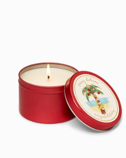 Holiday Palm Tree Candle Tin