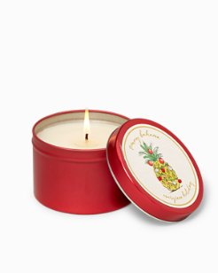 Holiday Pineapple Candle Tin