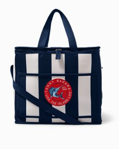 Nautical Marlin Stripe Insulated Picnic Bag