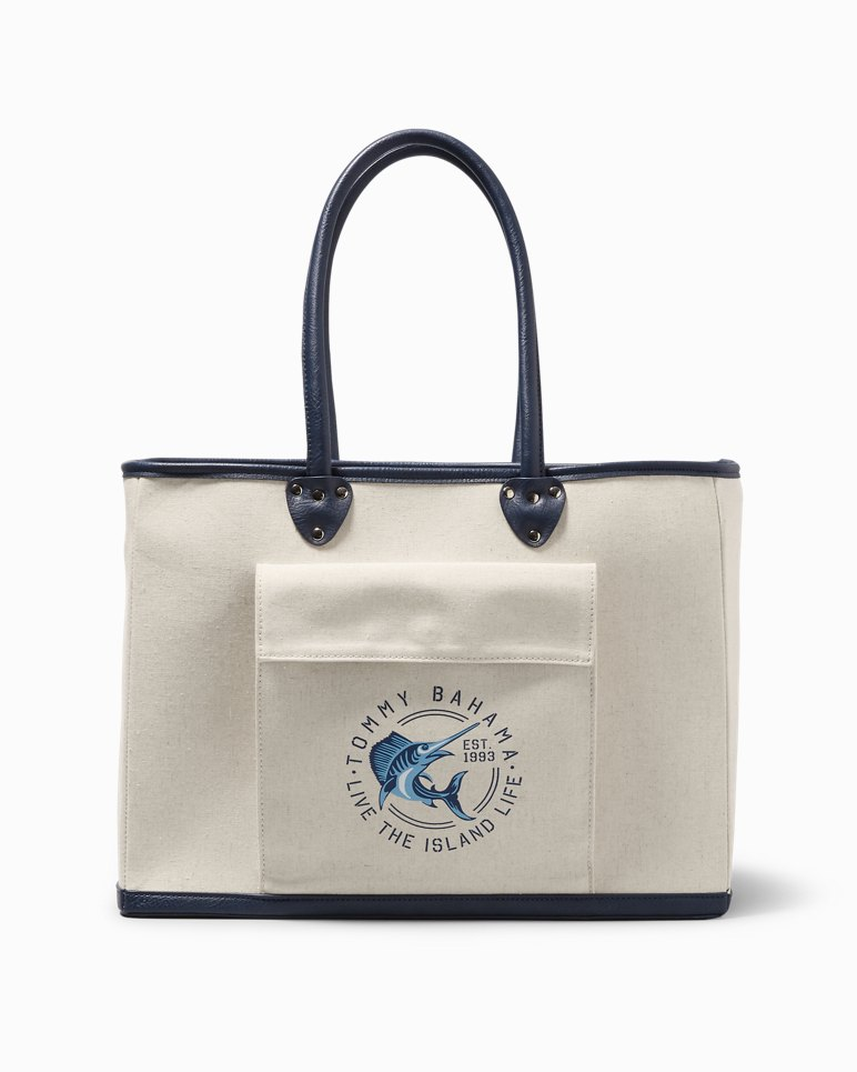 Main Image for Nautical Marlin Canvas Insulated Picnic Bag