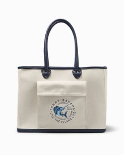 Nautical Marlin Canvas Insulated Picnic Bag