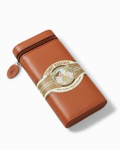 Hula Paradise 3-Count Leather Cigar Holder