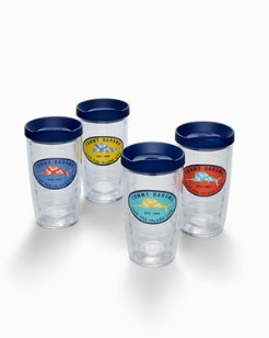 Floral Marlin Tervis Tumblers® - Set of 4