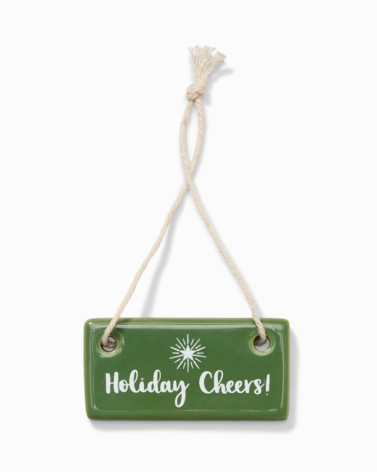 Main Image for Holiday Cheers Ceramic Tag