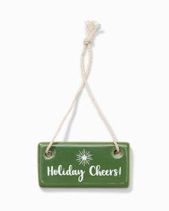 Holiday Cheers Ceramic Tag