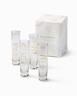 Holiday Champagne Flutes - Set of 4