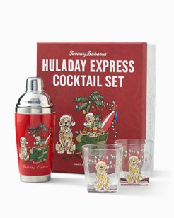 Huladay Express Shaker & Double Old Fashioned Glass Set