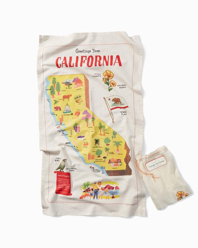 Main Image for Vintage Tea Towel - California