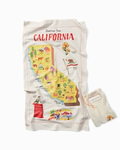 Vintage Tea Towel - California