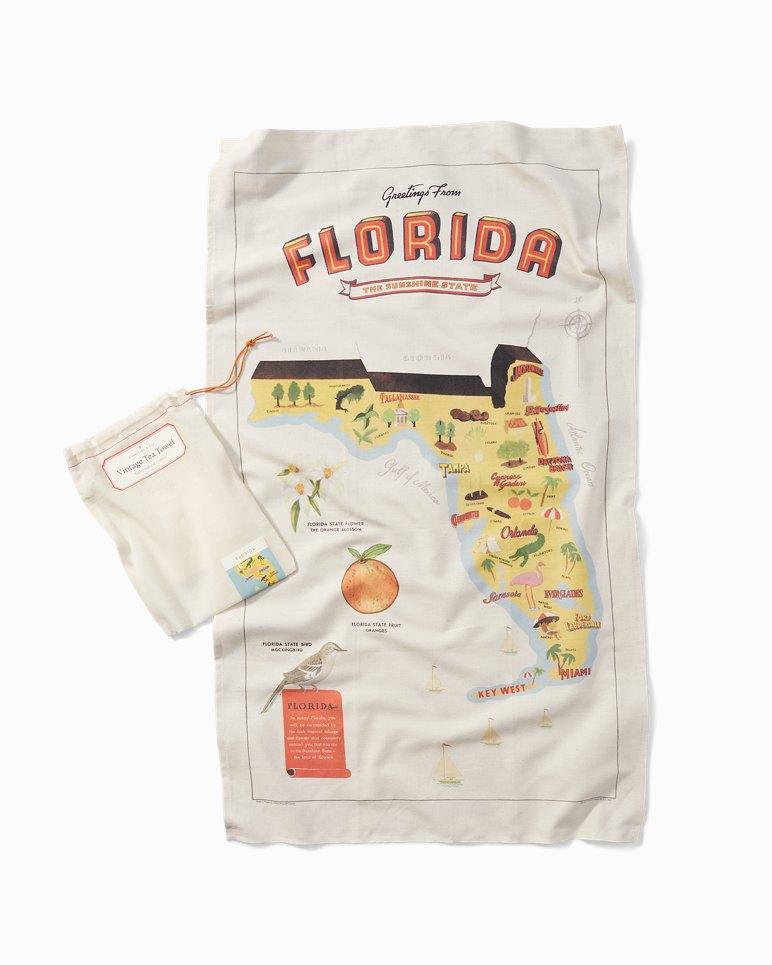 Main Image for Vintage Tea Towel - Florida