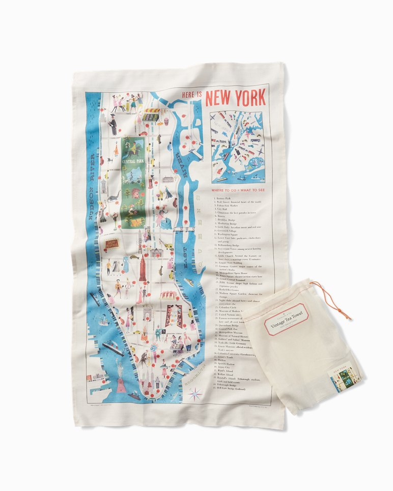 Main Image for Vintage Tea Towel - New York