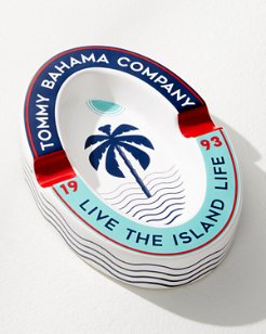 Live The Island Life Oval Ashtray
