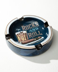 Rocks & Roll Round Ashtray