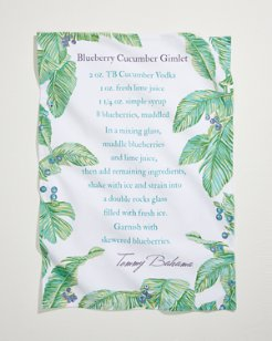 Blueberry Cucumber Gimlet Recipe Bar Towel