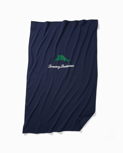 Wavy Marlin Sweatshirt Blanket