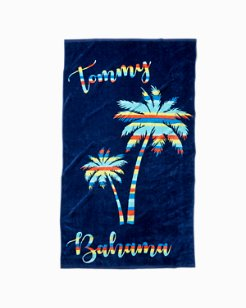 Stripe Palm Beach Towel