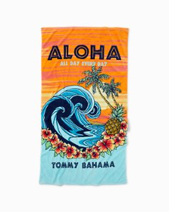 Aloha All Day Beach Towel