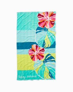 Hibiscus By The Sea Beach Towel