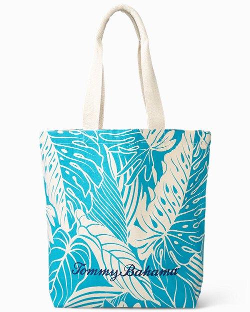 Leaf Print Shopping Tote