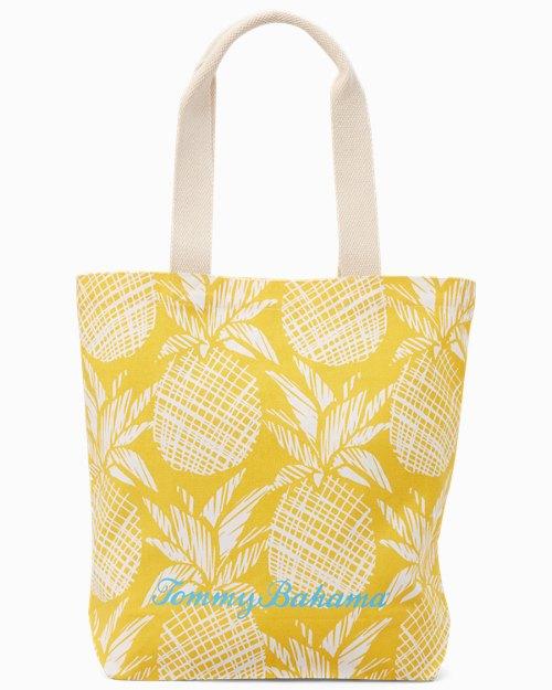 Pineapple Print Shopping Tote