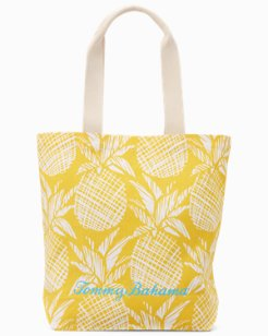 Pineapple Print Shopping Tote