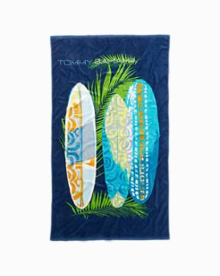 Surfer's Shangri-la Beach Towel