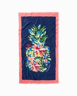 Bloomin Pineapple Beach Towel