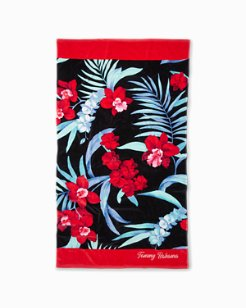 Midnight Orchid Beach Towel