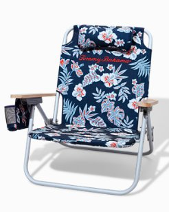 Hibiscus Americana Removable Backpack Beach Chair