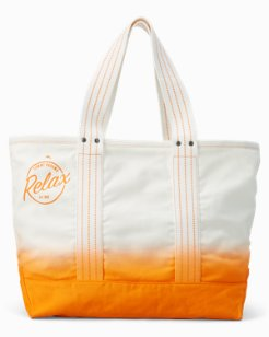 Relax Canvas Beach Tote